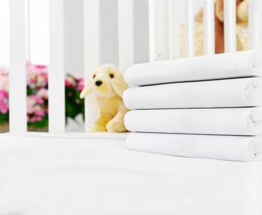 Children's white quality bed sheets