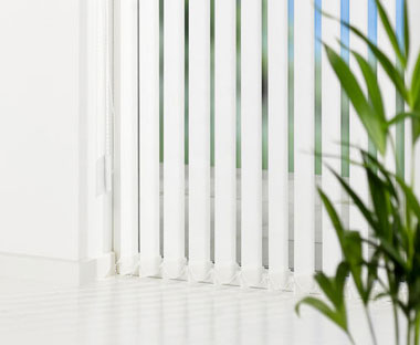 Vertical blinds for homes or offices in white