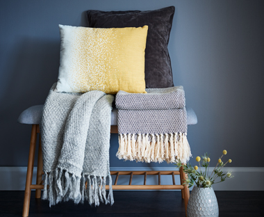 Soft and fluffy throw/ blanket in grey