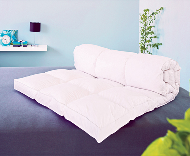 Soft, thick, quilted mattress topper.