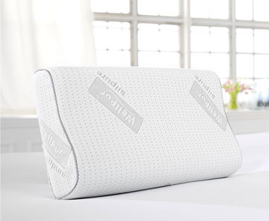Specialist Wellpur memory foam pillow to help neck and back pains