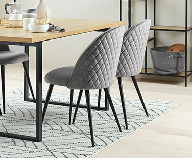 KOKKEDAL velvet dining chair