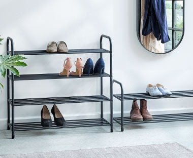 shoe rack with 4 and 2 shelves