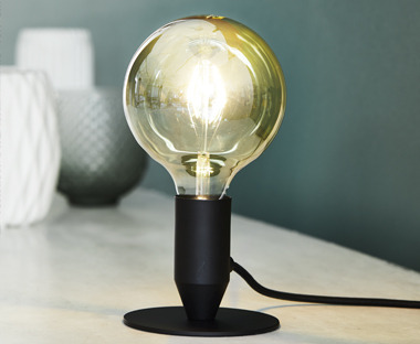 Light bulb table lamp LED