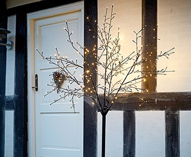 Outdoor Christmas light tree