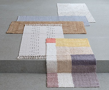 Patterend rug in several colours