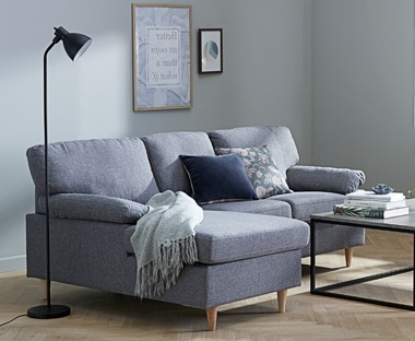GEDVED sofa with chaise longue