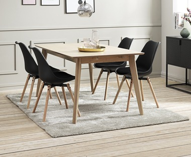 Natural rug for dining room setting