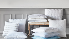 Large selection of many different pillows available in all sizes